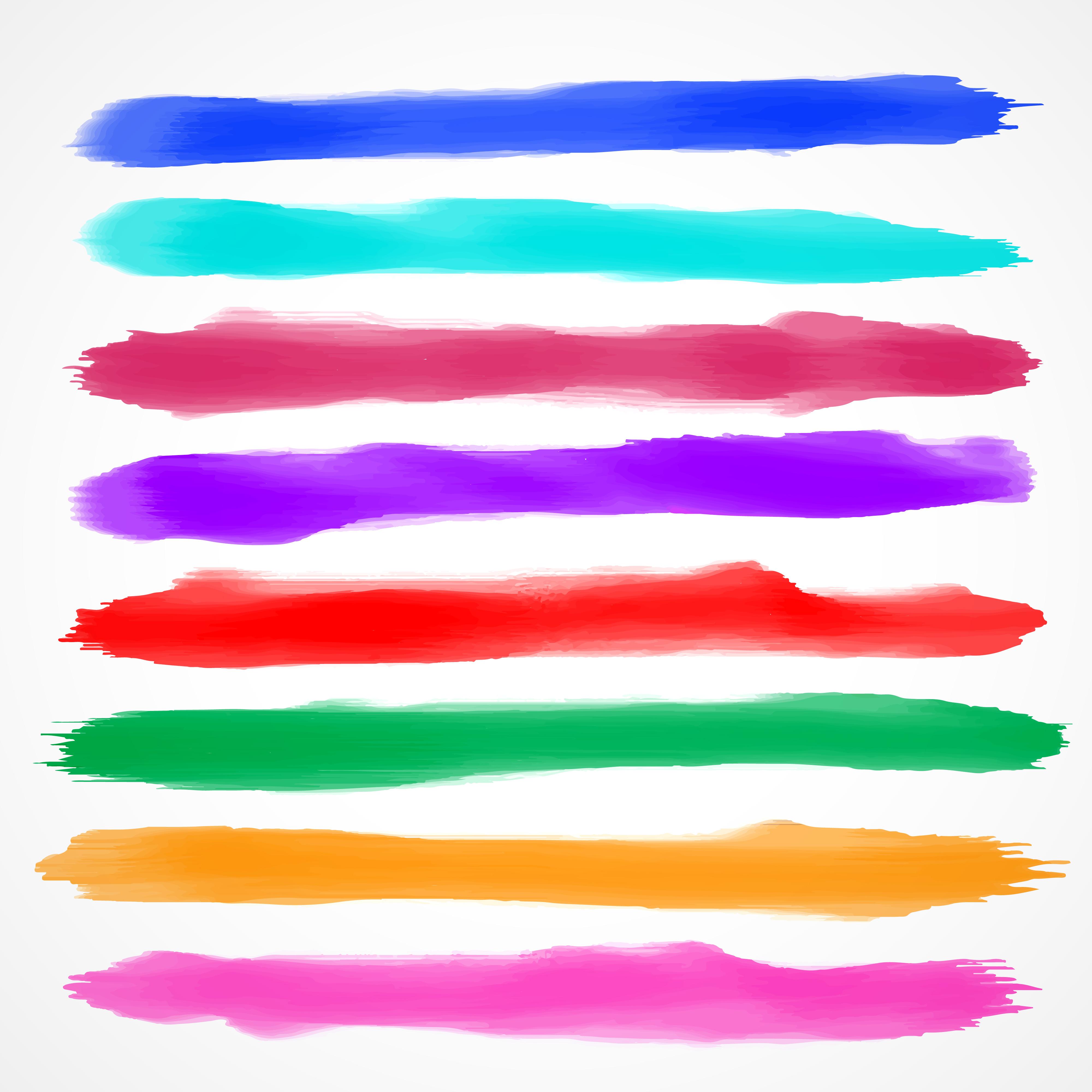 Watercolor Brush Strokes Free Vector Art 4589 Free