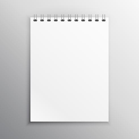 notebook display mockup