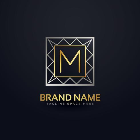 premium letter M logo in geometric shape style
