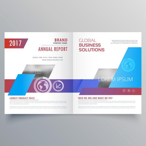 modern bifold brochure design template. Business magazine cover