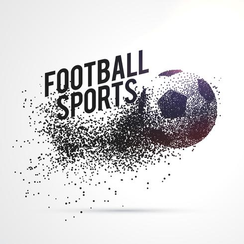 particles forming football shape sports background
