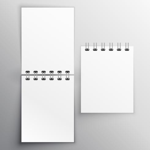 note diary mockup design template