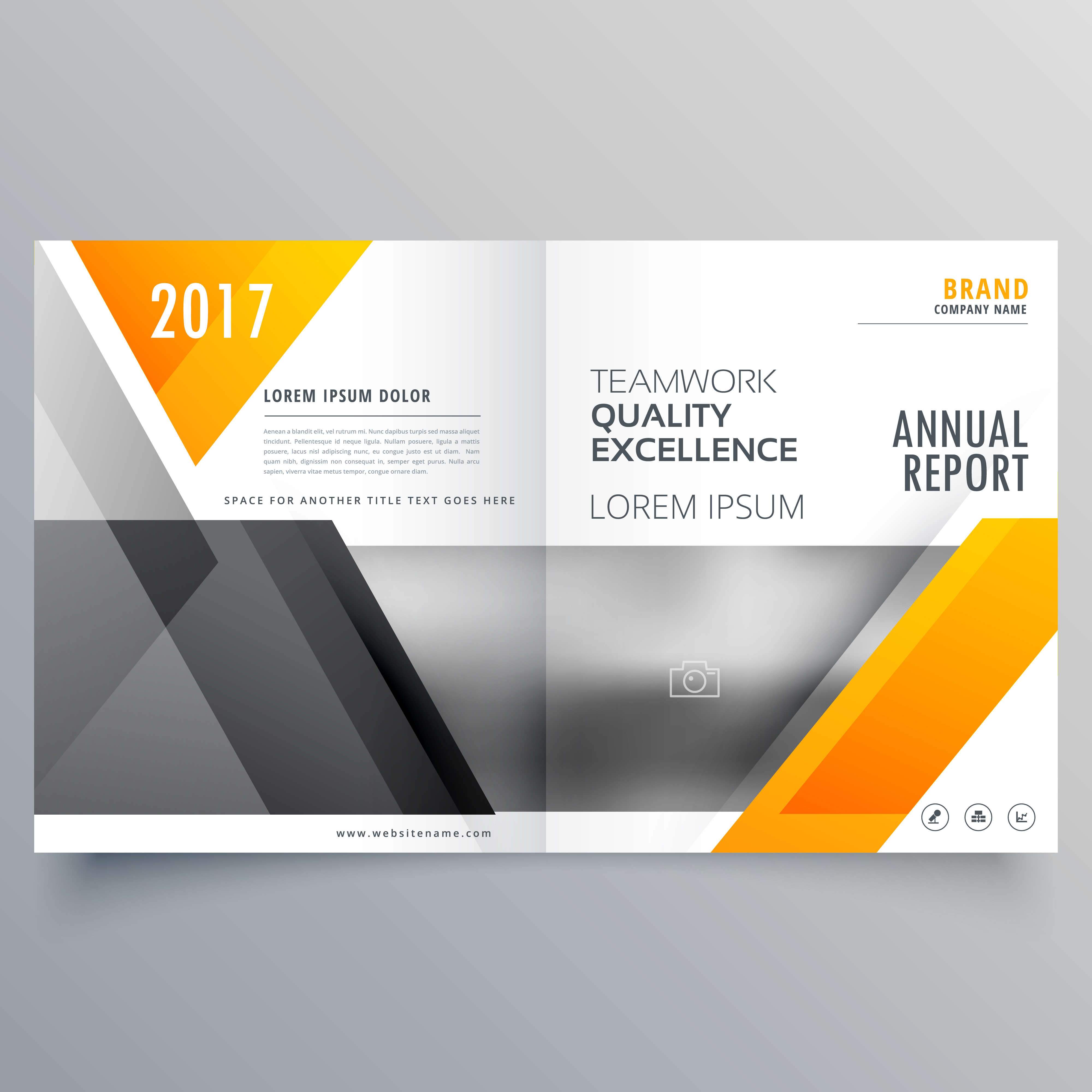 Business Cover Page Template Layout Brochure Design With