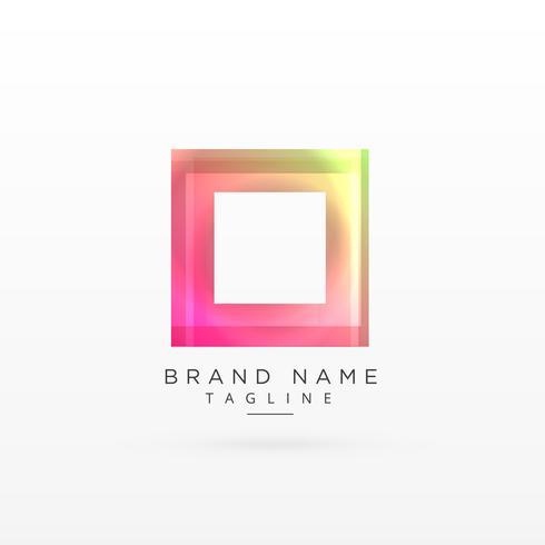 colorful square shiny logo design
