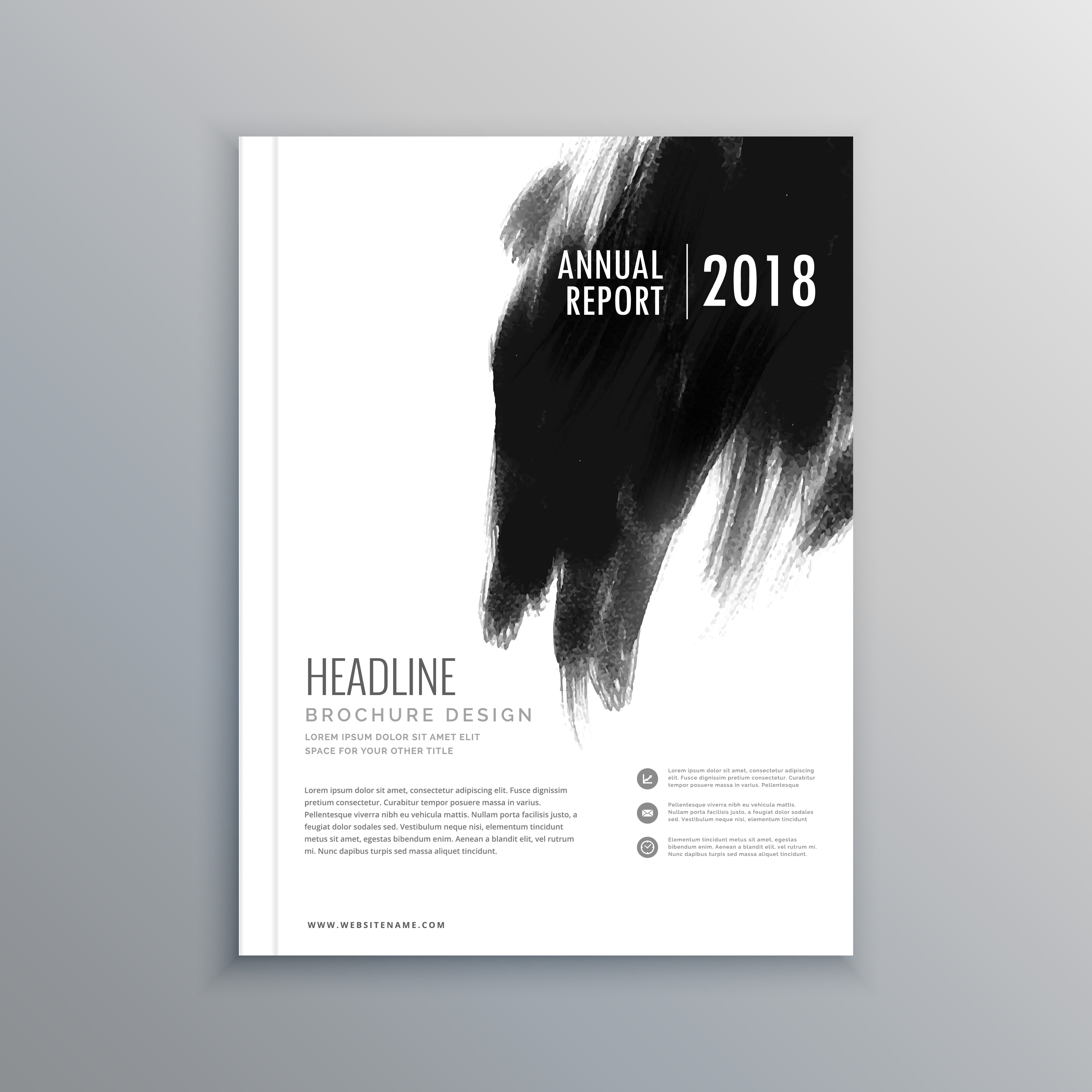 Art Calendar Business Magazine : Creative business magazine cover page layout with black