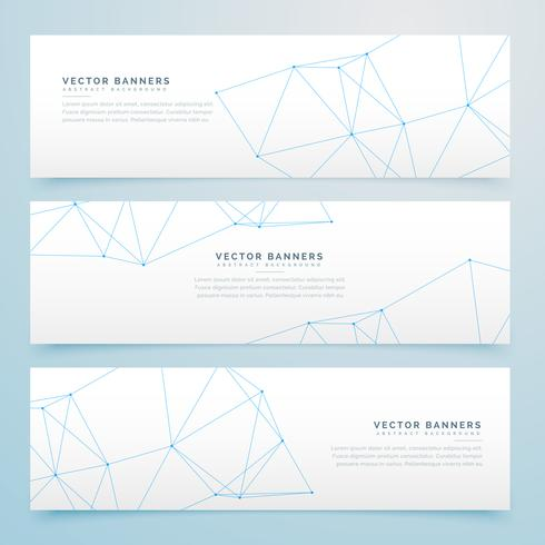 minimal wire banners set of three