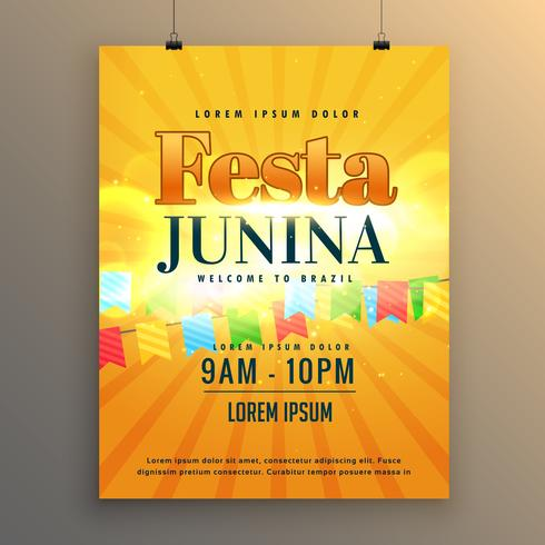 festa junina carnaval flyer affiche design fond
