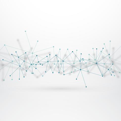 array nätverk linjer med prickanslutning i teknik begrepp b