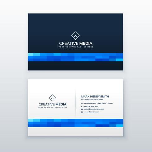 minimal blue business card design