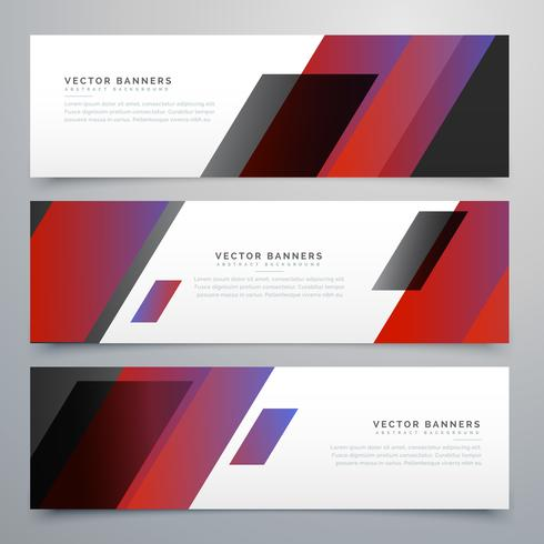 business style vector banners set