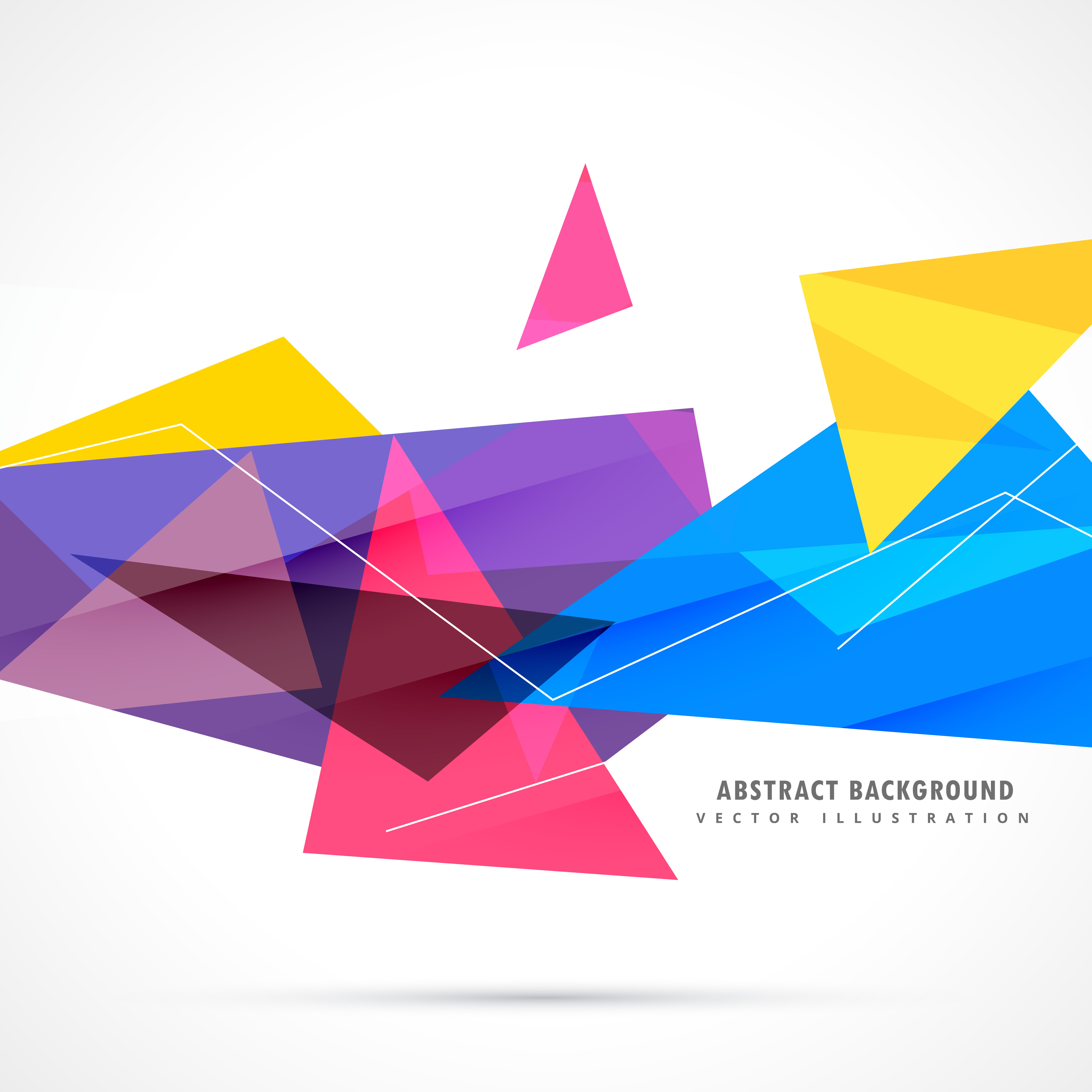 colorful geometric triangles in abstract style - Download ...