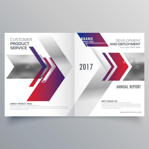 abstract arrow style magazine business brochure design