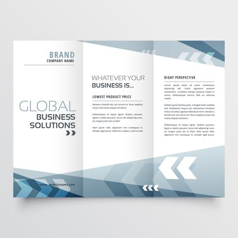 abstract tri fold brochure design in geometric shape style