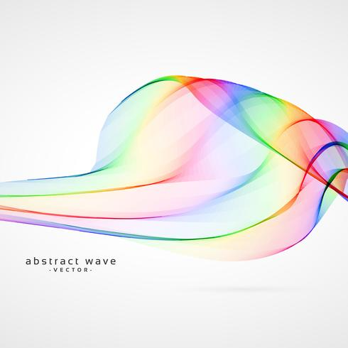colorful vector wave abstract background