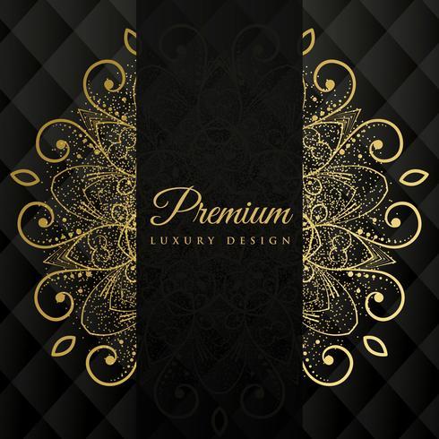 fond de conception premium mandala ornamanetal avec paillettes effec