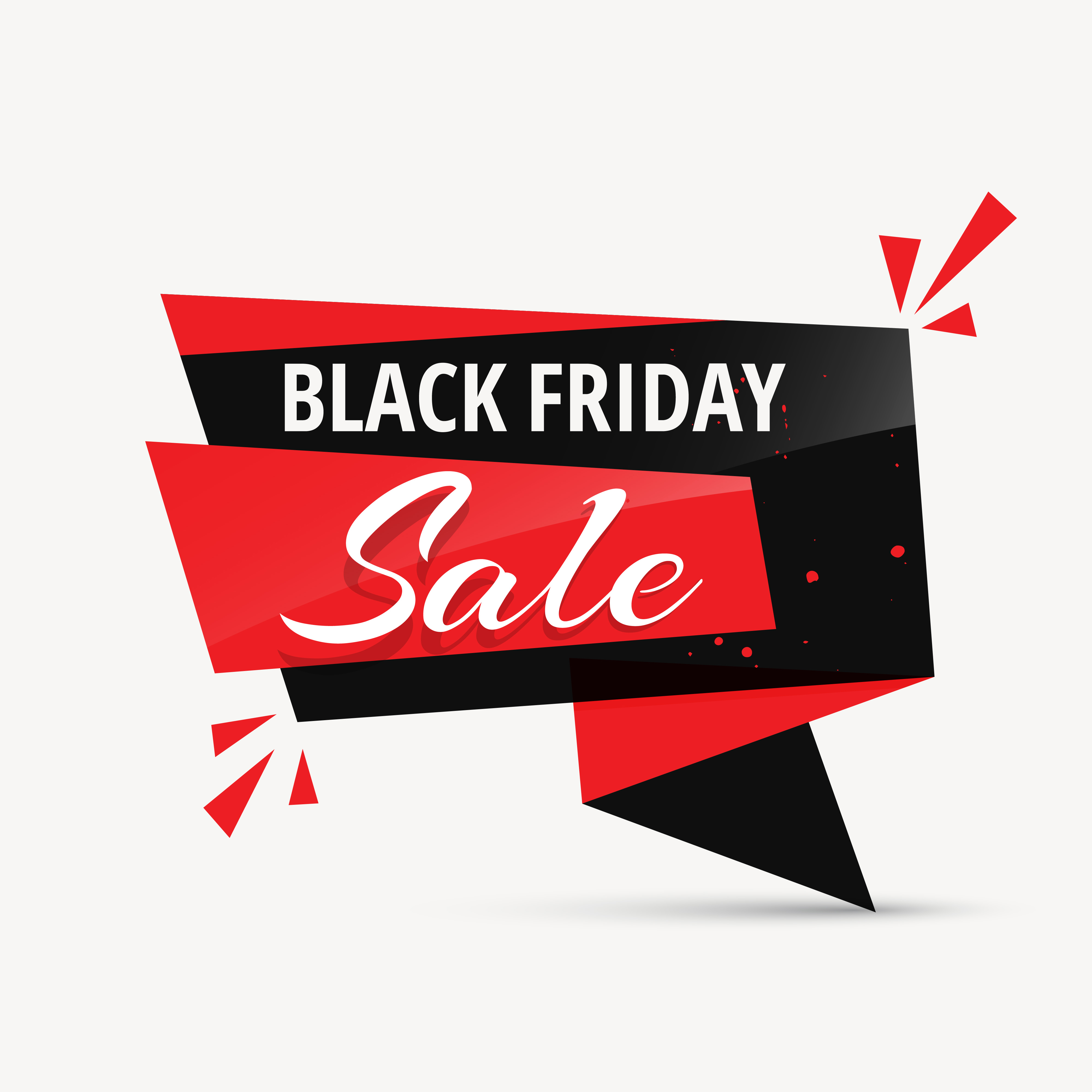 Black Friday Sale Chat Bubble Promotional Template