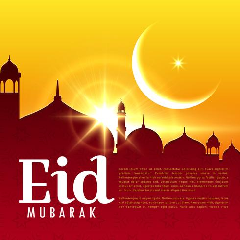 eid mubarak islamic festival holiday background