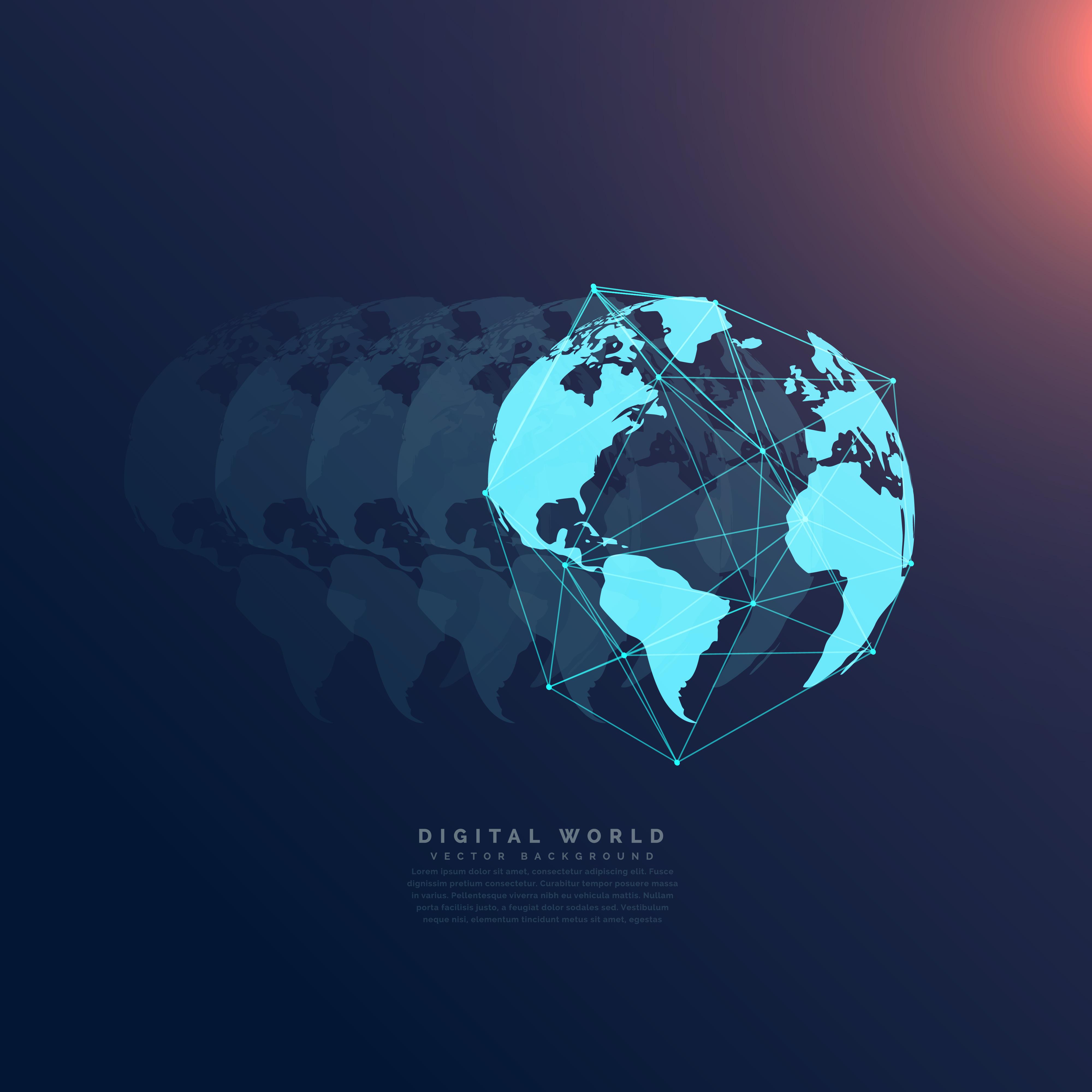 world network communication digital technology concept