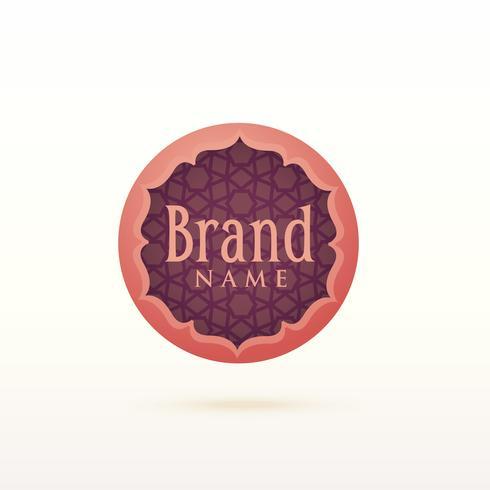 modèle de conception de logo de style arabe