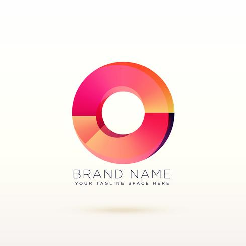 abstract circle shiny logo concept design