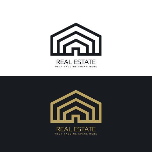minimal line style real estate logo design
