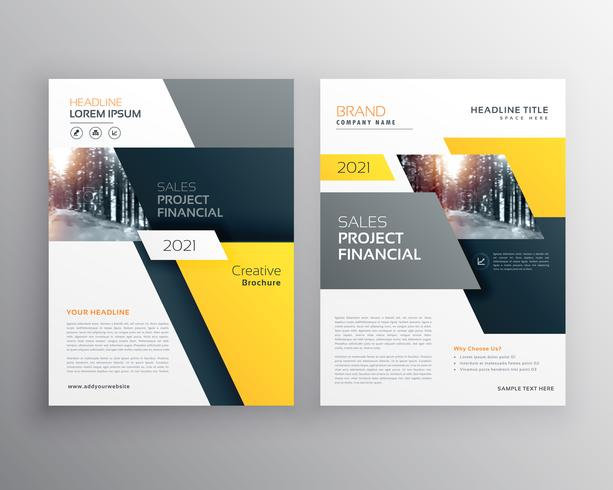 modern geometric business brochure flyer poster template design