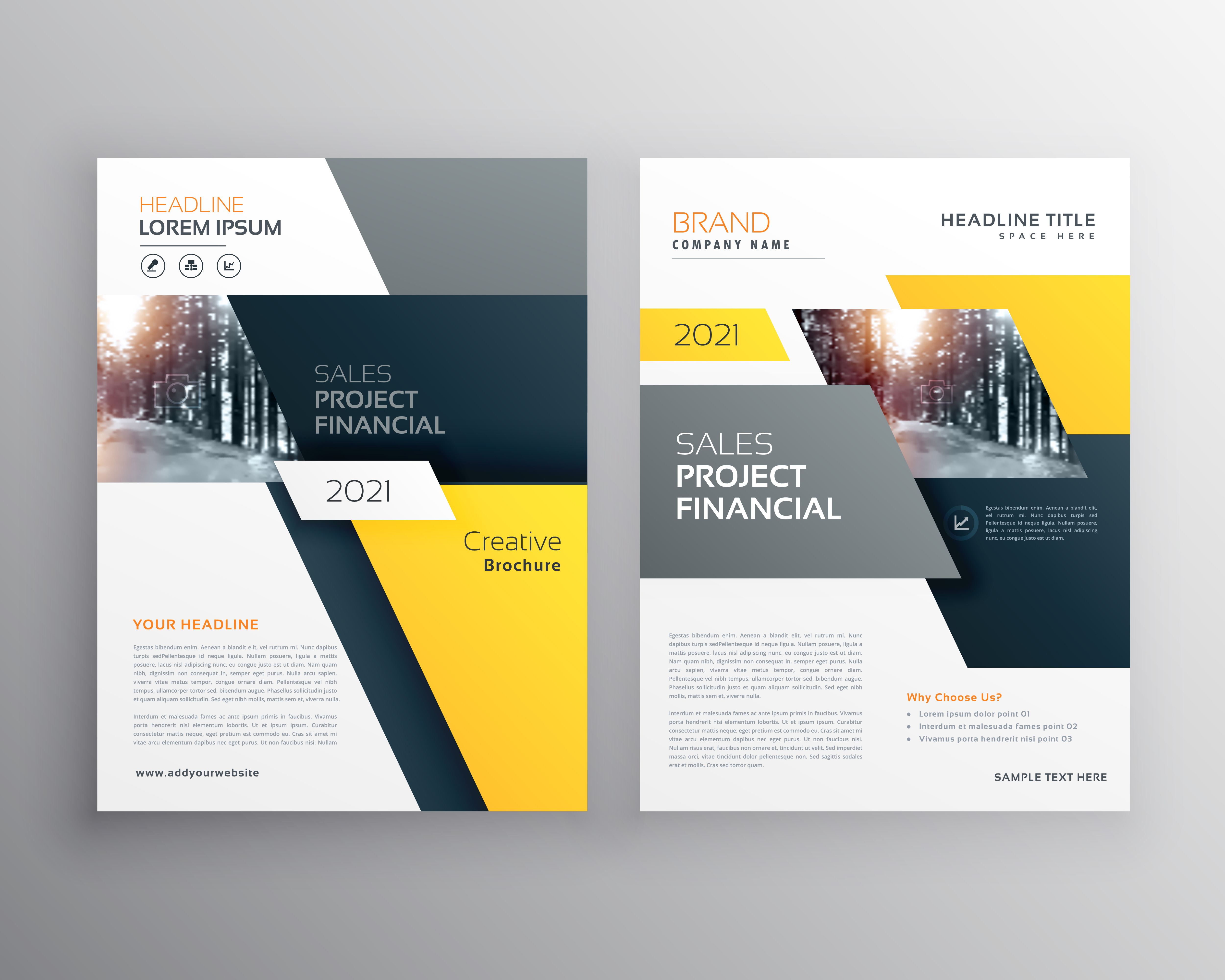 modern geometric business brochure flyer poster template