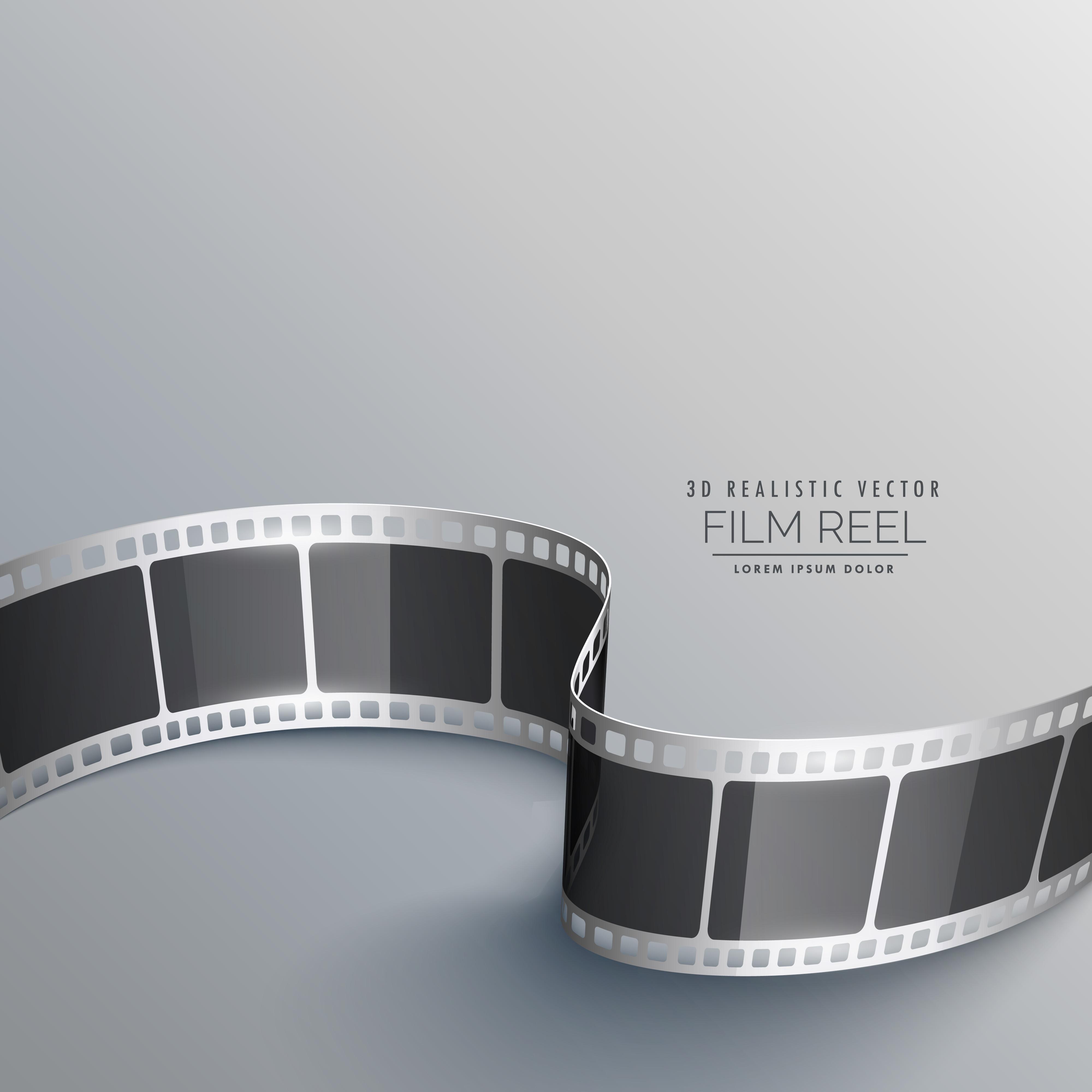 cinema background with 3d film strip - Download Free ...