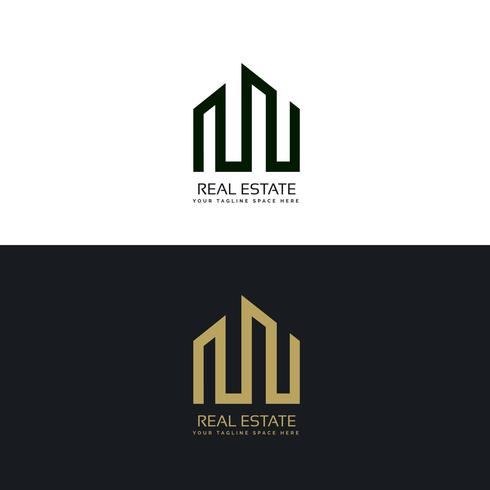kreative Immobiliengeschäft Logo Design-Vorlage
