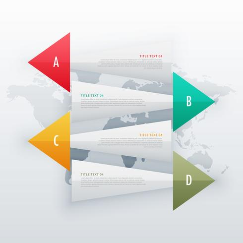 infographic creative banners four steps workflow design template