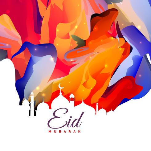 eid mubarak creative abstract background design