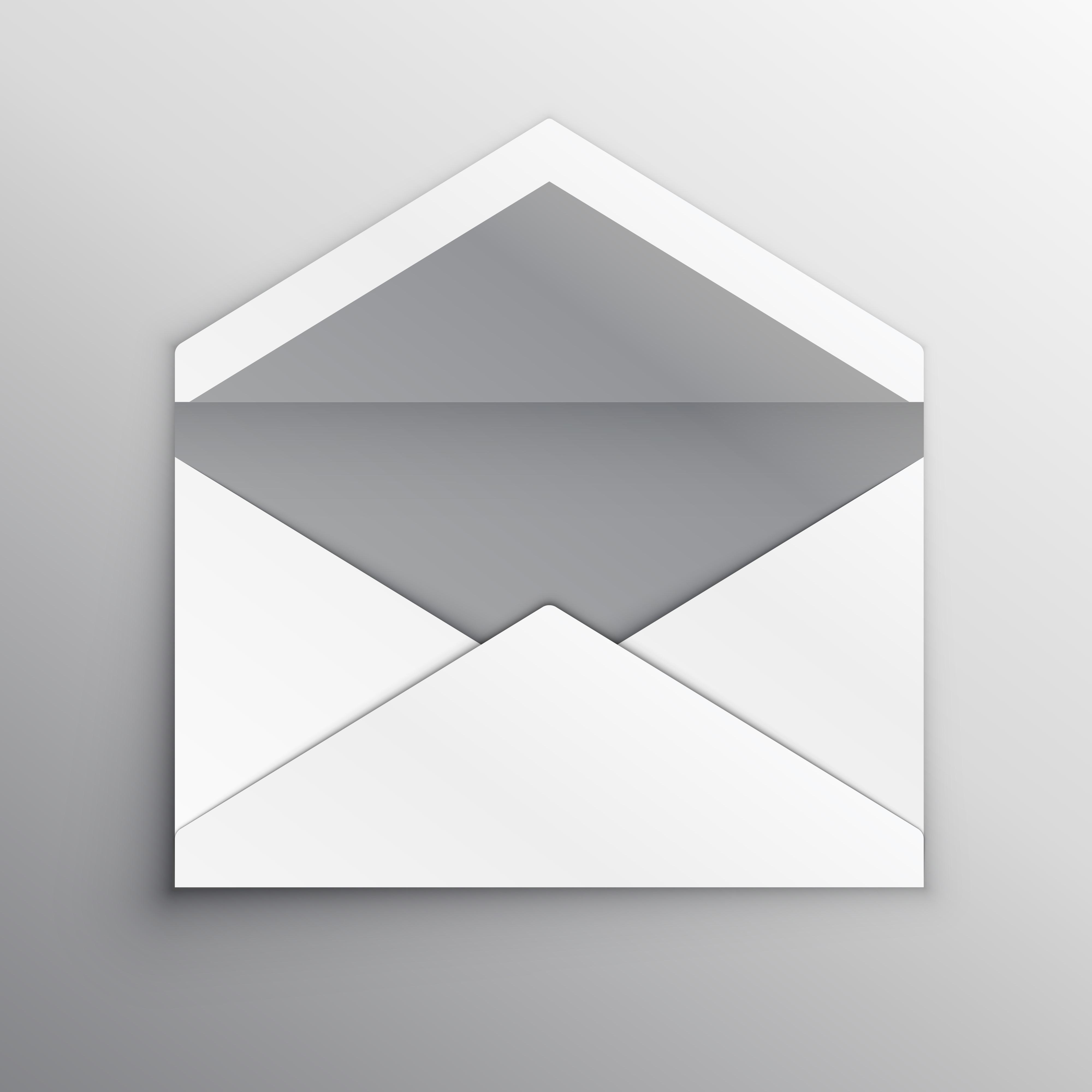 Empty Envelope Back Side Realistic Mockup Template