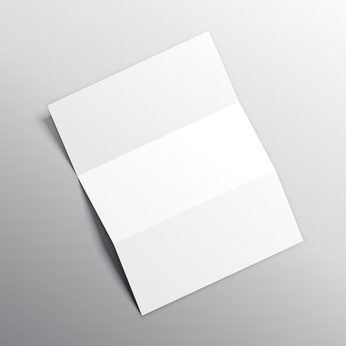 folded paper mockup vector design