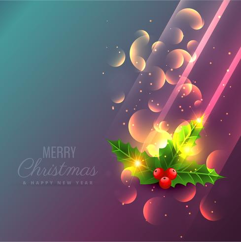 amazing shiny christmas leafs background design illustration