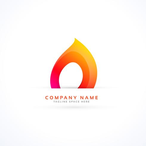 creative flame logo in abstract style