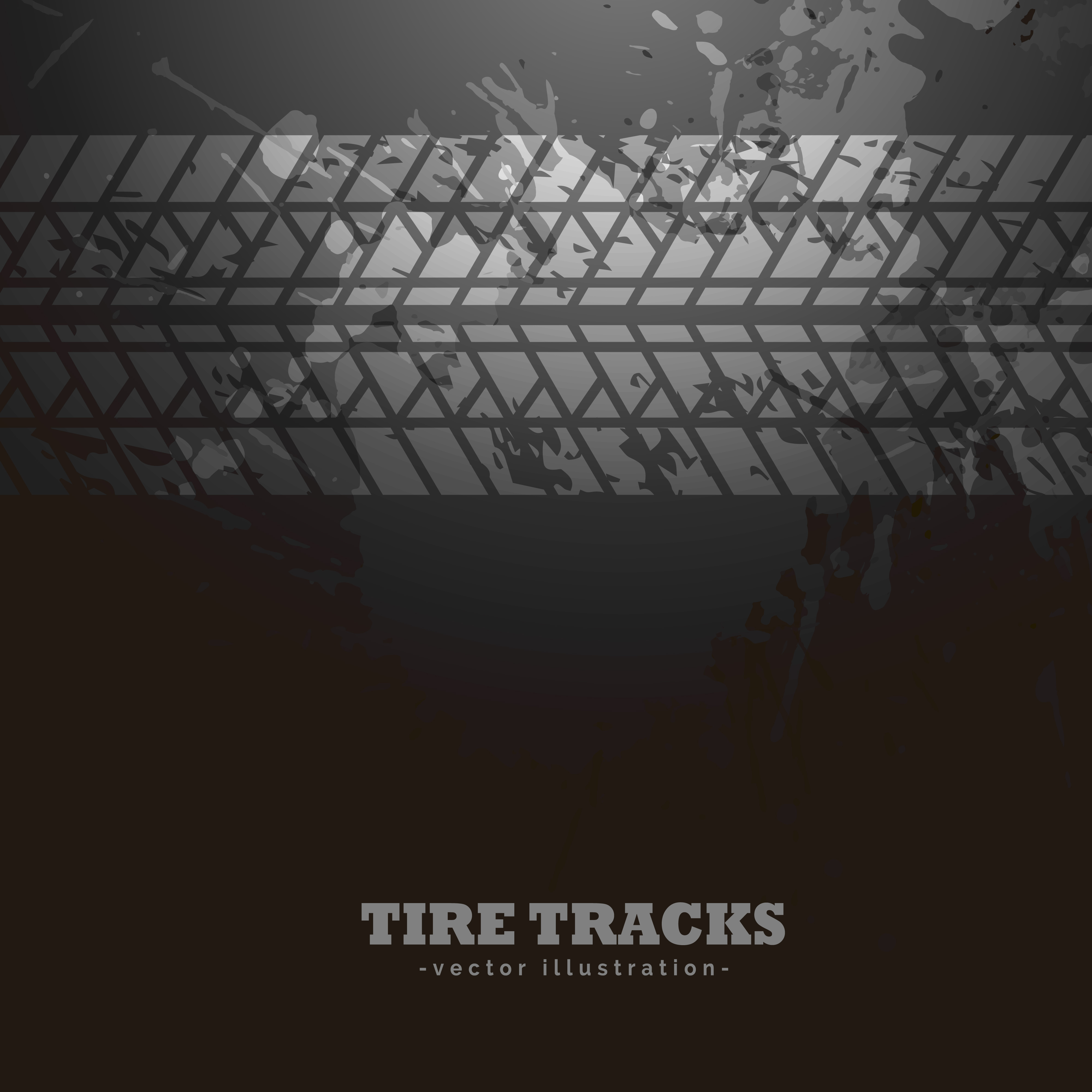 tire tracks impression  dark background   vector art stock graphics images