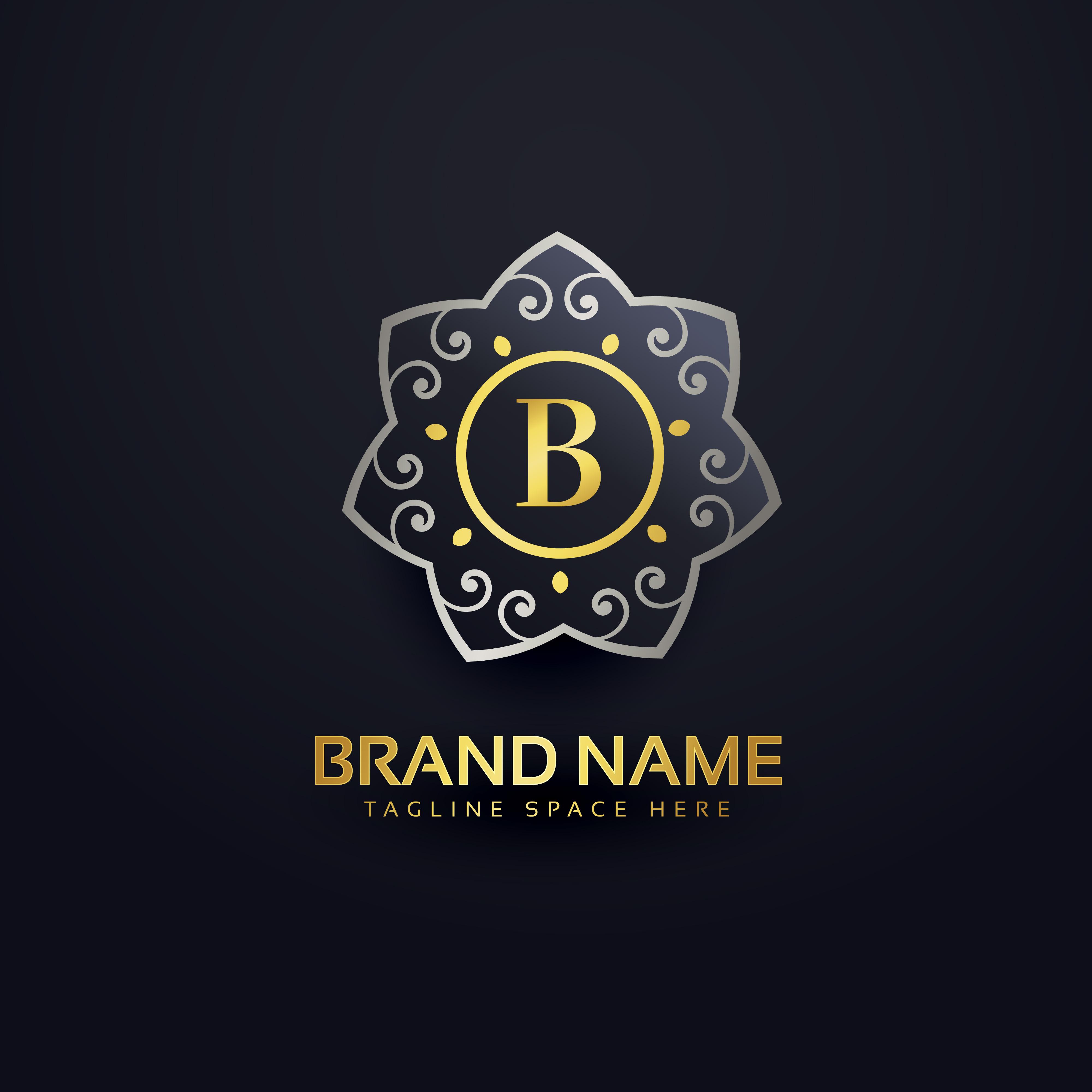 vector-letter-b-logo-design-with-floral-element Antique Monogram Letter C Template on