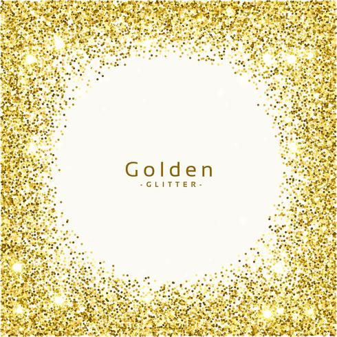 golden glitter frame background vector