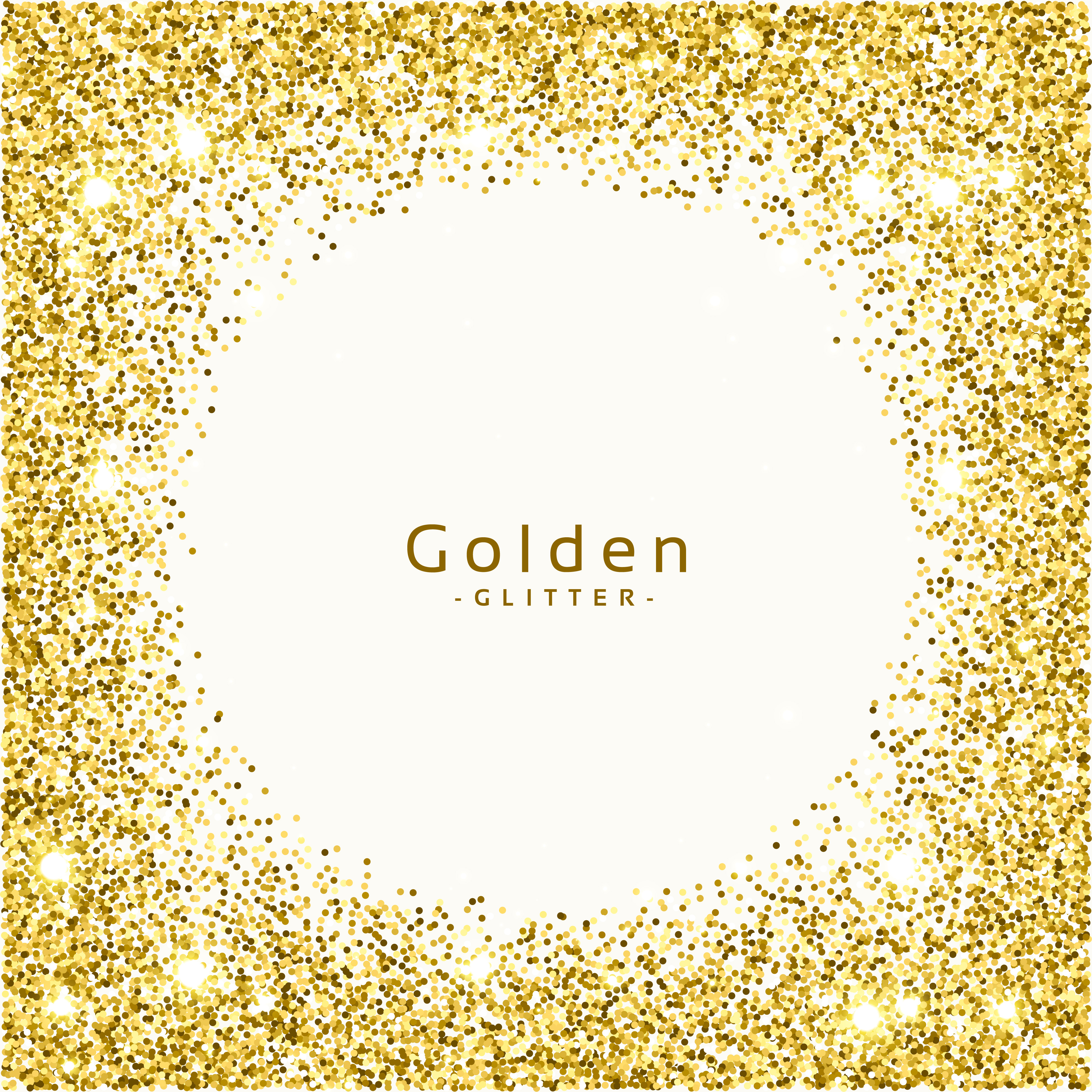 Glitter Gold: Golden Glitter Frame Background Vector