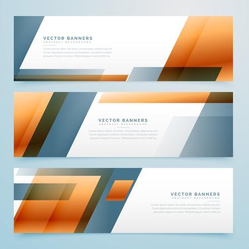 geometrische Business Banner Design Set von drei