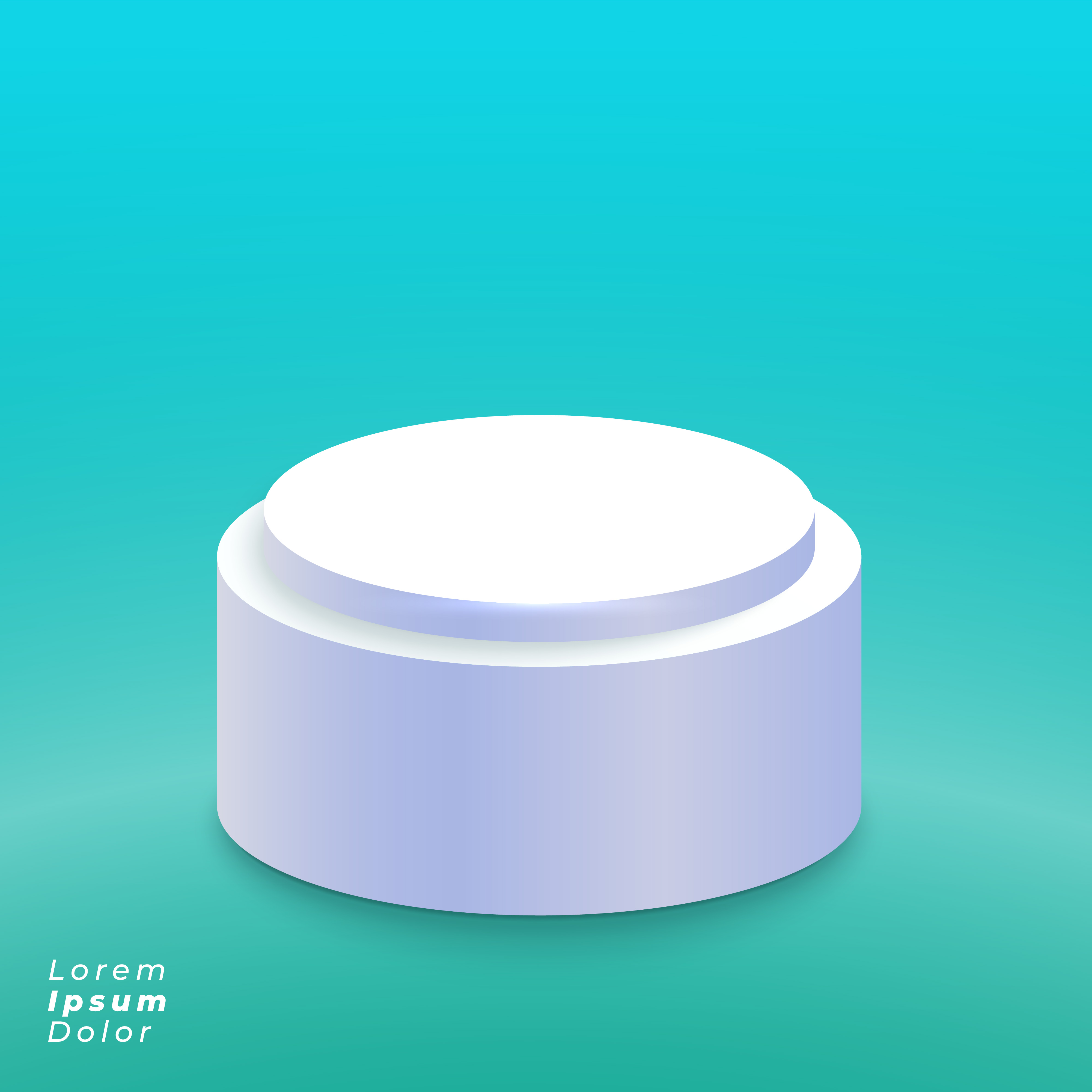 White Studio Background With Podium: Elegant Studio With Podium Or Product Display Background