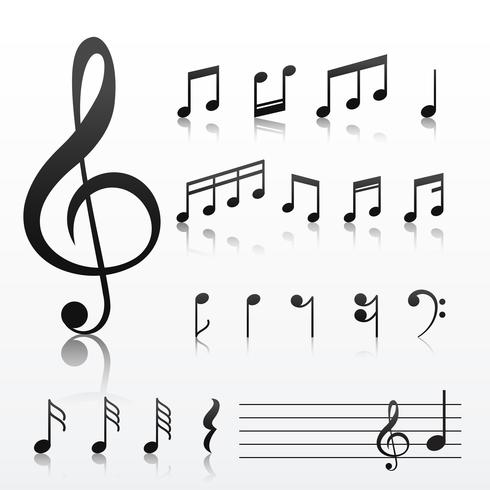 collection of music note symbols