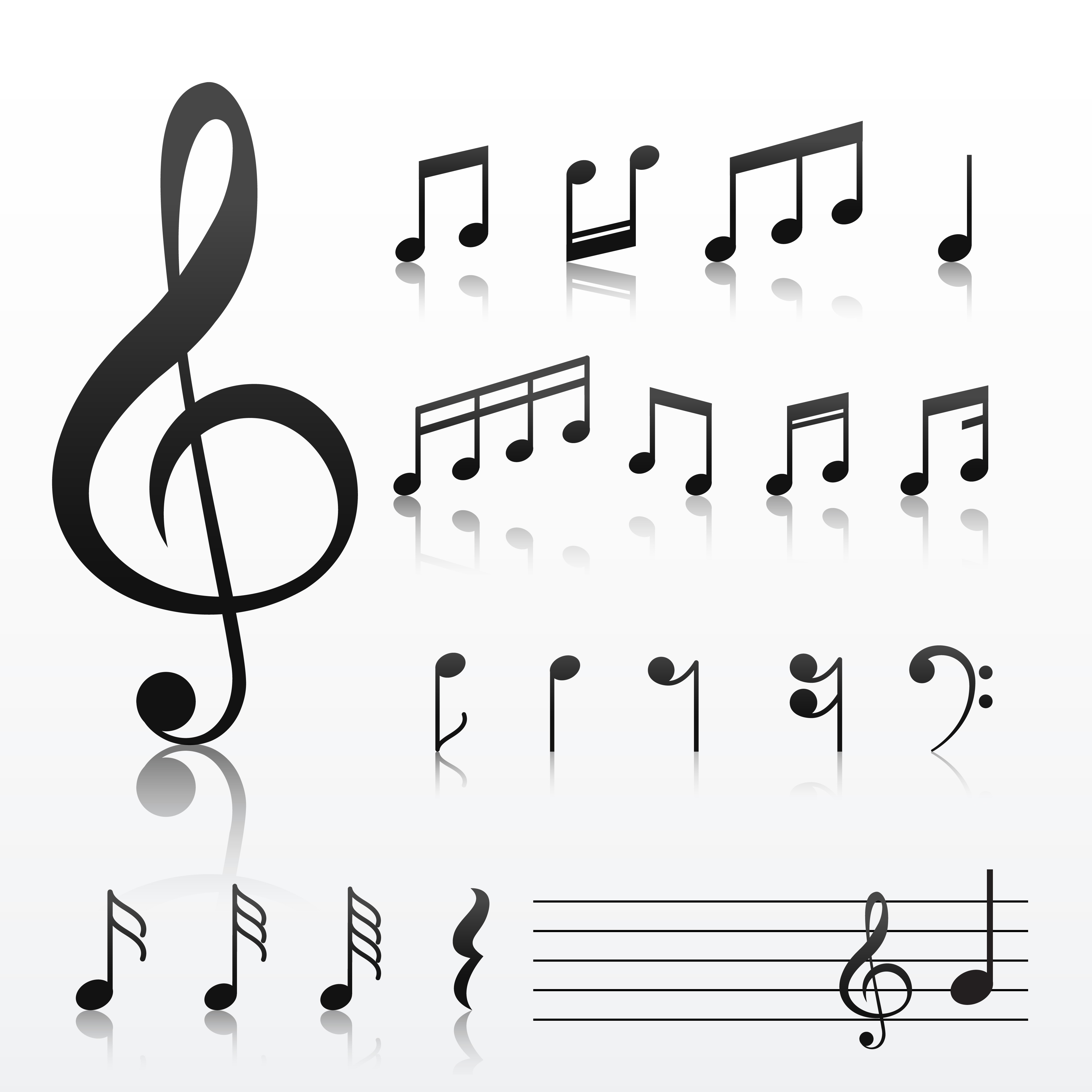 Collection Of Music Note Symbols Download Free Vector Art Stock