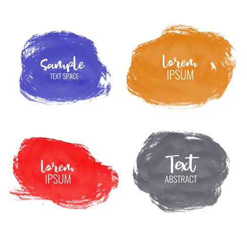 set of watercolor paint stroke background