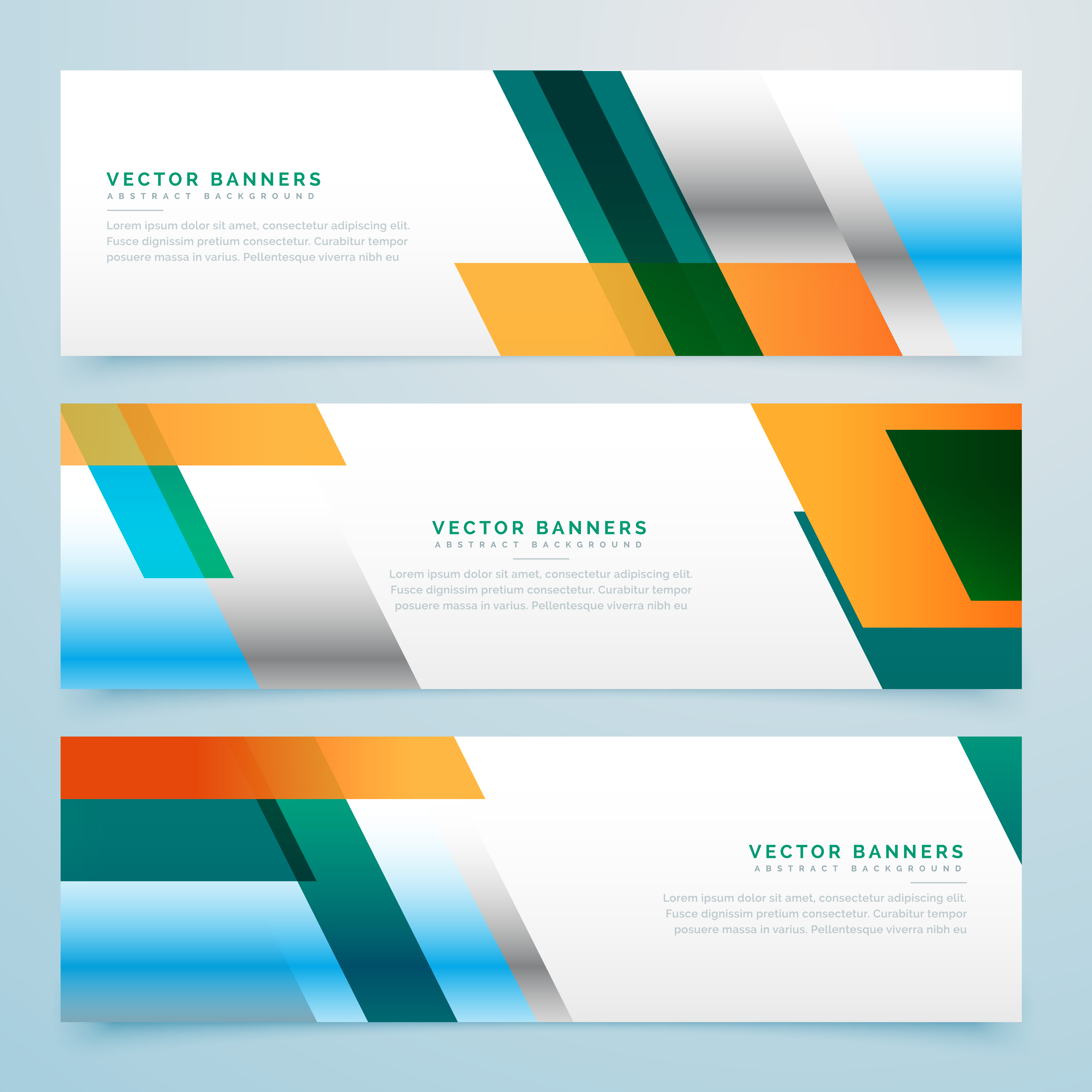 Business Banners Set Abstract Background Download Free