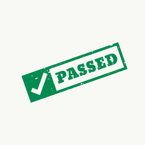passed stamp checkmark sign and symbol