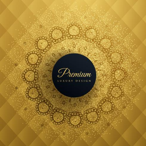 premum golden background with mandala decoration