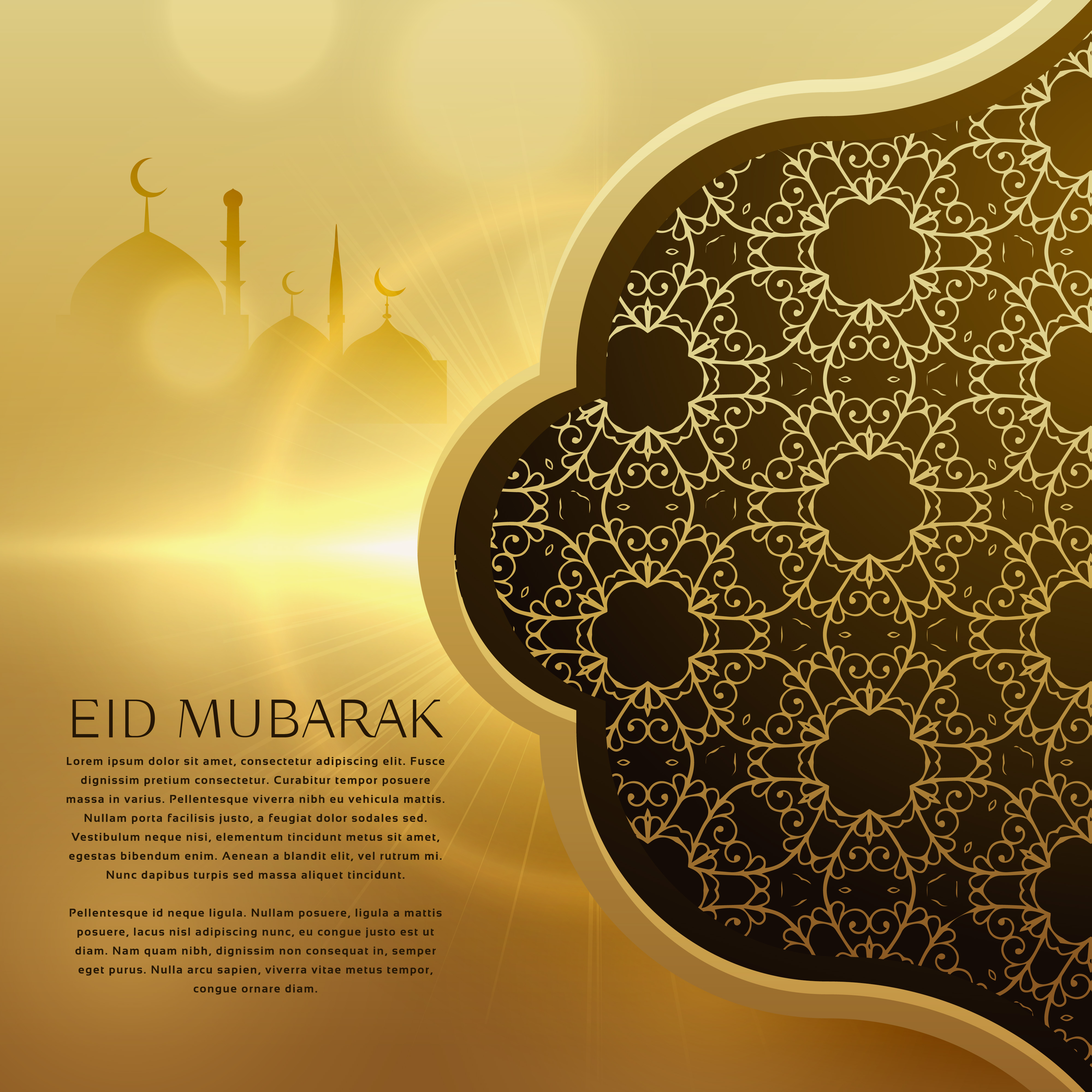 awesome eid festival background with islamic pattern ...