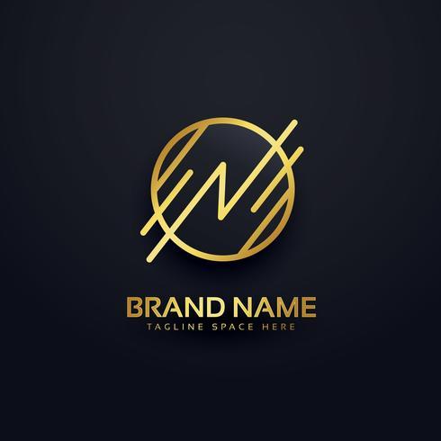 creative letter N premium logo design