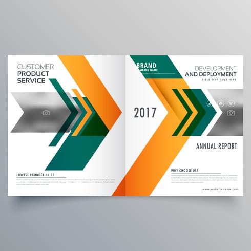 creative arrow style business bifold brochure design template